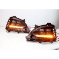 Hyundai New Elite 2018 Front LED DRL Day Time Running Light in Porche Style with Turn Signal Indicator (Set of 2Pcs.)