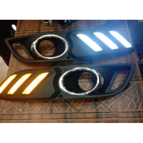 Hyundai Venue Front LED DRL Day Time Running Light in Mustang Style (Set of 2Pcs.)