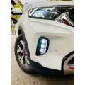 Kia Sonet 3 Lenses LED Front DRL Light Cum Fog Lamp with Matrix Turn Indicator ( Set of 2Pcs.)