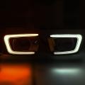 Mahindra Scorpio New LED DRL Daytime Running Lights With Matrix Turn Signal - Volmax (Set of 2Pcs.)