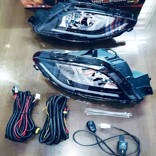 Mahindra Marazzo Front LED DRL Day Time Running Light with Fog Lights (Set of 2Pcs.)