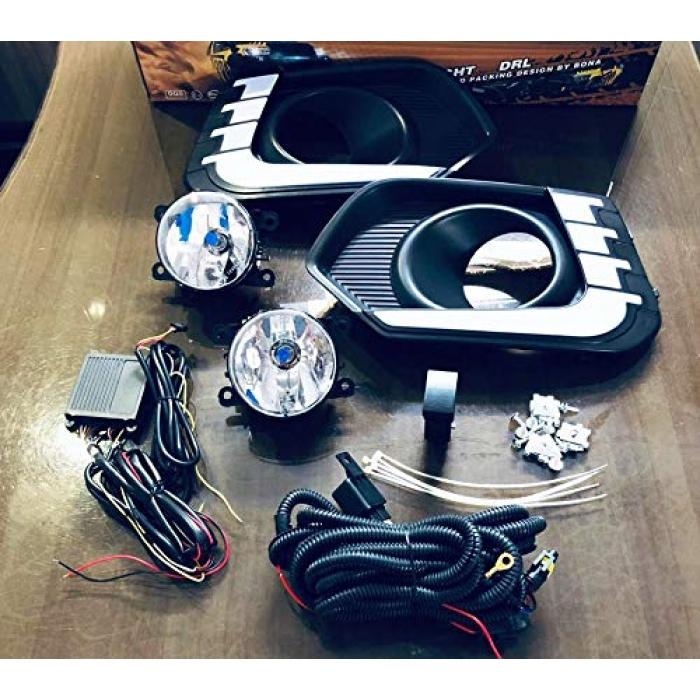 Maruti Suzuki New Dzire DRL Daytime Running Lights with Fog Lamp - Volmax (Set of 2Pcs.)