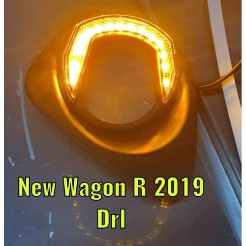 LED DRL Day Time Running Light For Maruti New Wagon R 2019 (Set of 2Pcs.)