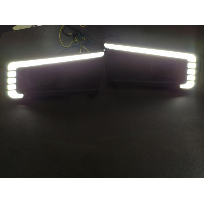 Maruti Vitara Brezza Front LED DRL Daytime Running Light with Matrix Running Indicator (Set of 2Pcs.)