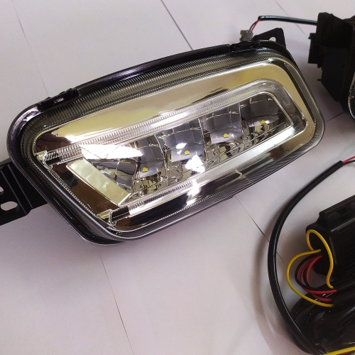 Ford New Endeavour Front LED DRL Daytime Running Light & Fog Lamp with Indicator (Set of 2Pcs.)