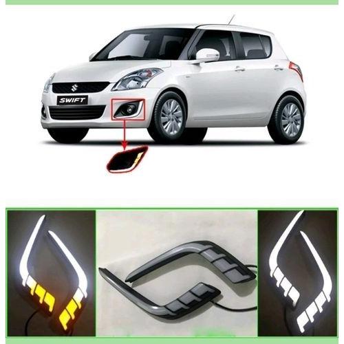 Maruti Suzuki Swift New Neon Type Front DRL Day Time Running Lights (Set of 2Pcs.)