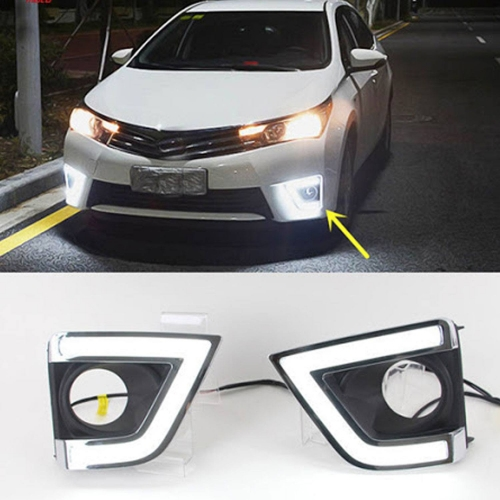 Toyota New Corolla Altis DRL Neon Tube Type Day Time Running Lights (Set of 2Pcs.)
