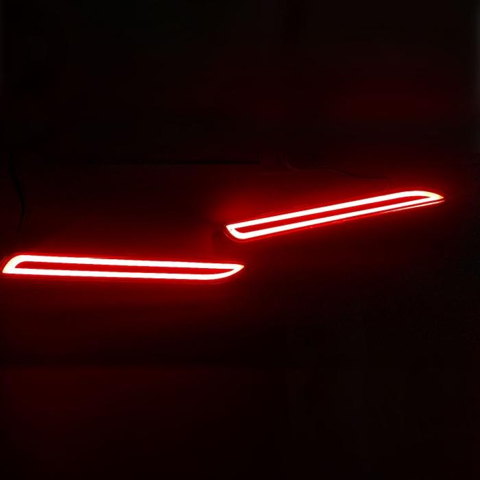 LED Bumper Reflector Lights For Toyota Old Fortuner Type-2 (Set of 2Pcs.)