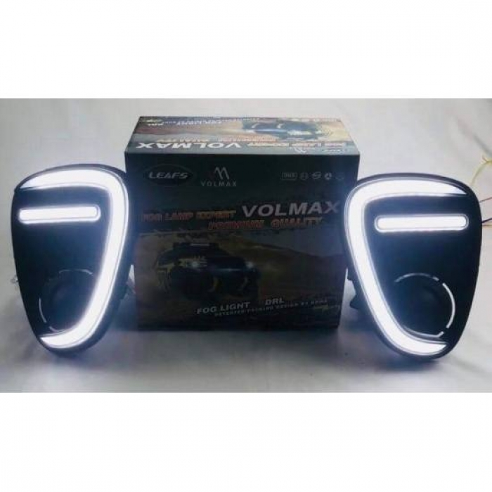 Toyota Glanza Front LED DRL Day Time Running Light with Matrix Turn Signal (Set of 2Pcs.)