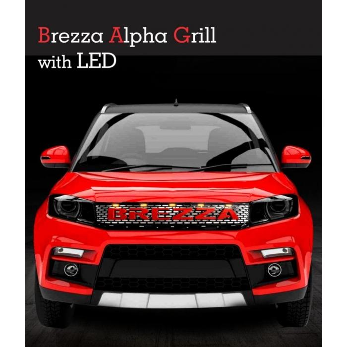 Maruti Vitara Brezza Logo Front Custom Fitted Alpha Front Grill