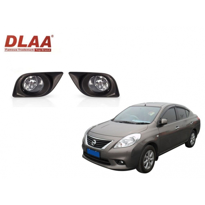 Fog Light With Wiring & Bulb For Nissan Sunny Old By DLAA (Set of 2Pcs.)