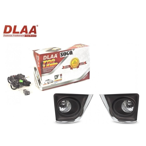 Fog Light With Wiring & Bulb For Toyota Corolla Altis New Set Of 2 By DLAA (Set of 2Pcs.)