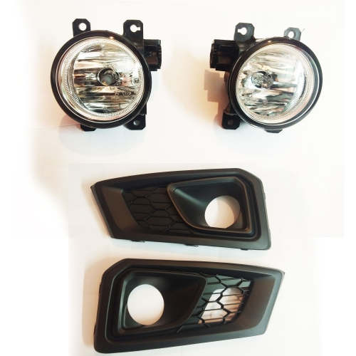 Fog Light With Wiring & Bulb for Honda New Amaze 2018 By DLAA (Set Of 2Pcs.)