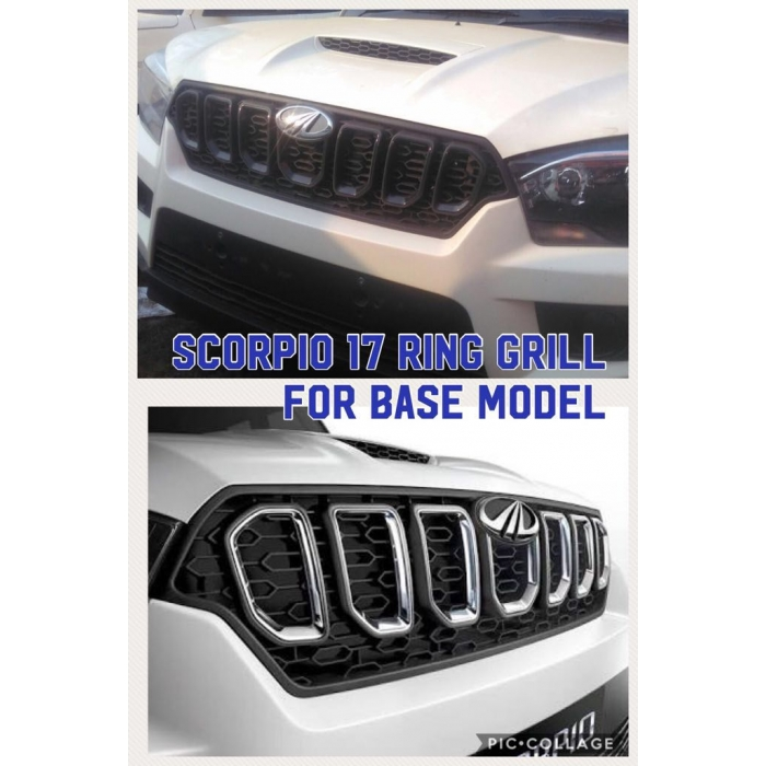 High Quality O.E Type Chrome Front Ring Grill For Mahindra Scorpio New Set Of 7