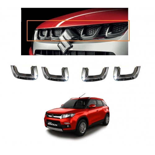 High Quality Chrome U Type Front Grill For Maruti Suzuki Vitara Brezza Set Of 4