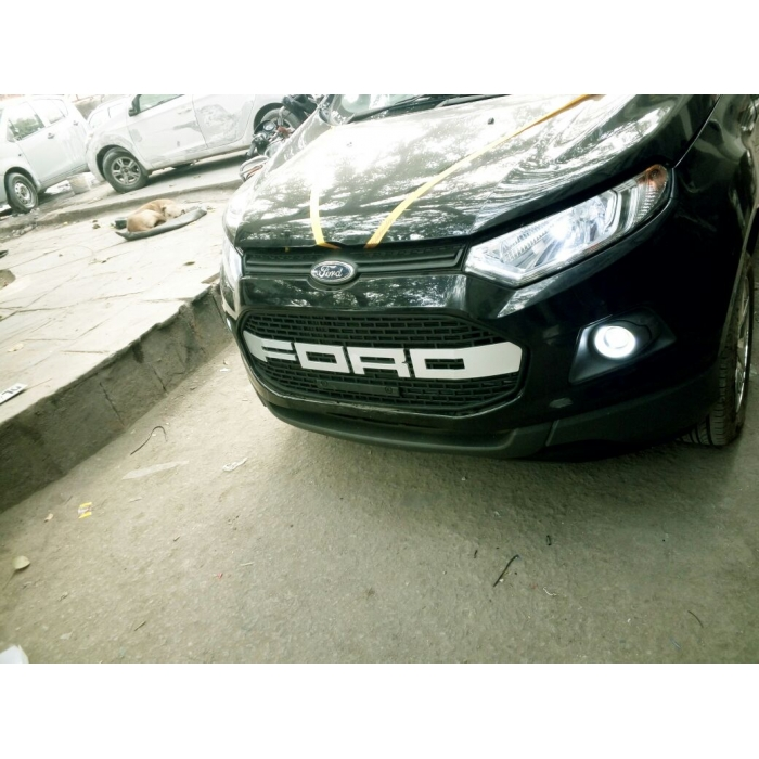 Ford Logo Front Grill ABS Plastic For Old Ecosport Black and White
