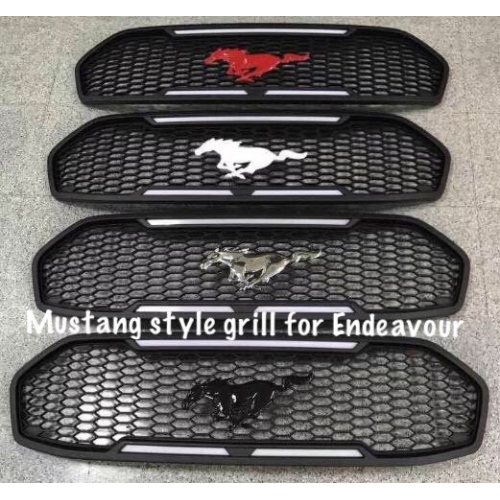 Ford Mustang Style Front Grill ABS Plastic For New Endeavour