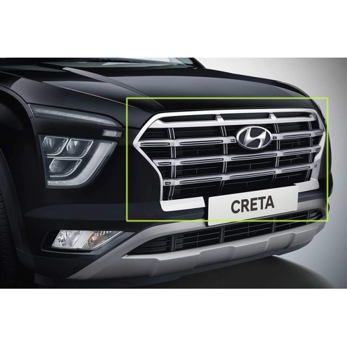 Hyundai New Generation Creta 2020 Chrome Front Grill Complete (Ring and Slats)