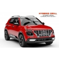 Custom Style Front Logo Grill For Hyundai Venue (Black & Chrome)