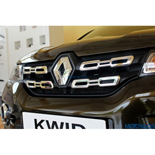 Custom Style Front Chrome Grill Chrome Trims For Renault Kwid