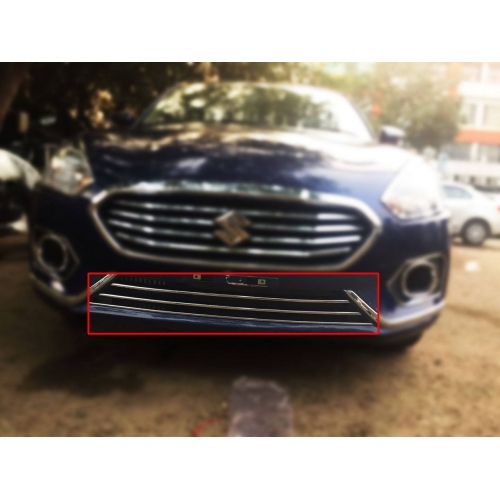 Maruti New Dzire 2017 Front Lower Chrome Grill Trims