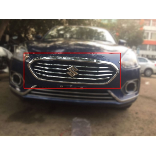 Maruti New Dzire 2017 Front Upper Chrome Grill Trims