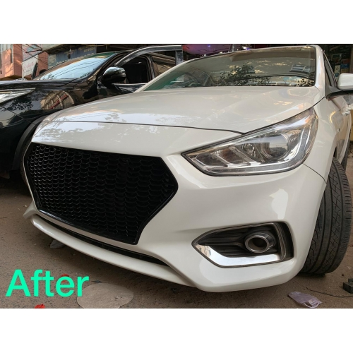 Hyundai New Verna 2017 RS Style Front Grill - Glossy Black