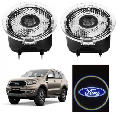 Ford New Endeavour Side Mirror Protector Shadow Logo Ghost Light Set of 2