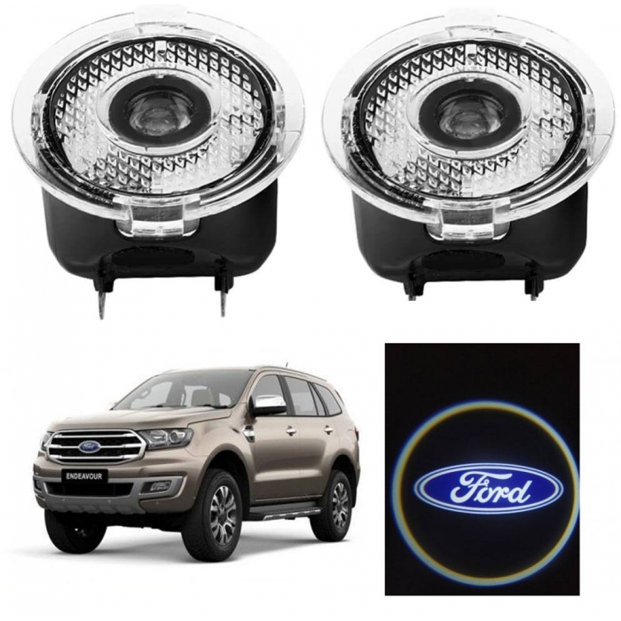 Ford New Endeavour Side Mirror Projector Shadow Logo Ghost Light Set of 2