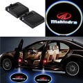 Wireless Car Welcome Logo Shadow Projector Ghost Lights Kit For Mahindra Navosport Set of 2