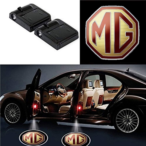 Wireless Car Welcome Logo Shadow Projector Ghost Lights Kit For MG Hector Set Of 2
