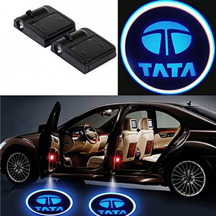 Wireless Car Welcome Logo Shadow Projector Ghost Lights Kit For Tata Altroz Of 2