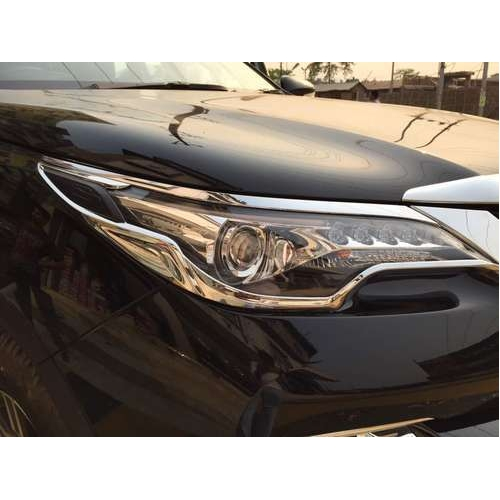 Imported High Quality Head Light And Tail Light Chrome Trim For Toyota New Fortuner