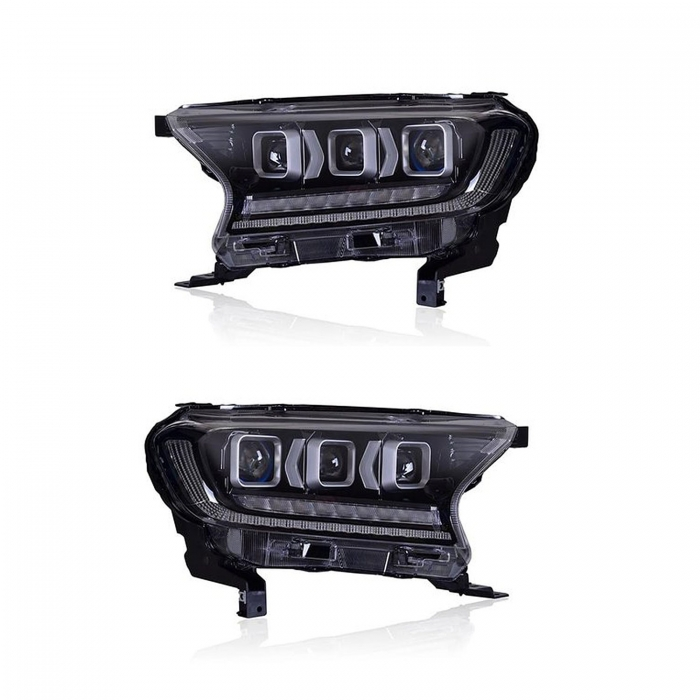Ford New Endeavour Bugatti Style Modified Headlight with Drl and Projector Lamp (Set of 2Pcs.)