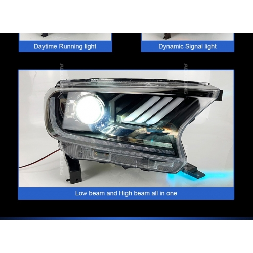 Ford New Endeavour Facelift 2019 Modified Headlight with Drl and Projector Lamp (Set of 2Pcs.)