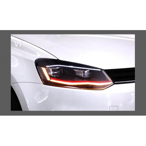 Volkswagen Polo Modified Headlight with Drl and Projector Lamp with Matrix and Scanning Function (Set of 2Pcs.)