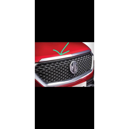 MG Hector Bonnet Hood Chrome Garnish Cover 1 Pieces- Imported