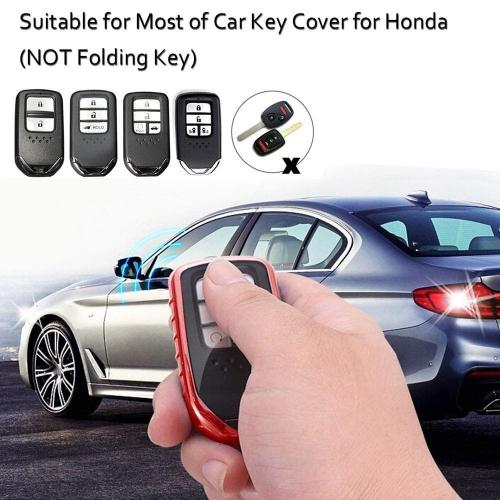 Silicone Key Remote Cover for Honda Jazz, City, Civic, Amaze, WRV, and BRV - (Push Button Start Model)