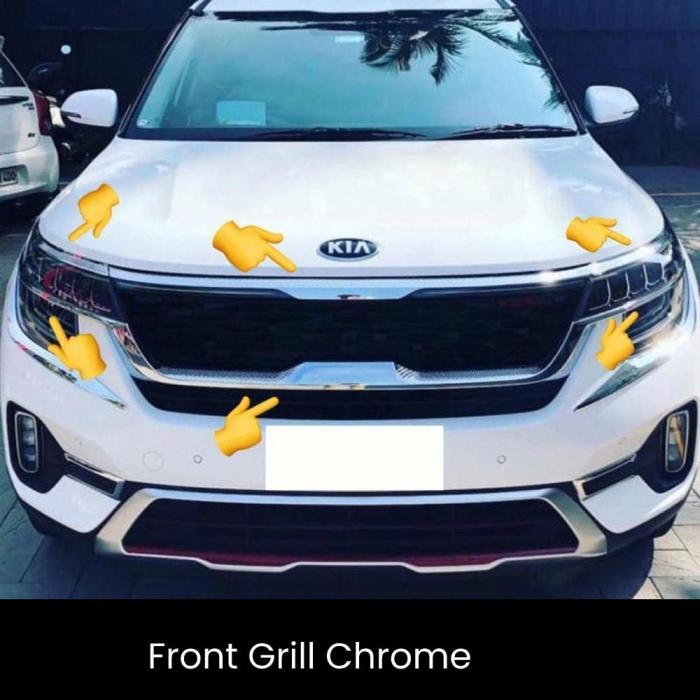 Kia Seltos Front Grill Outer Chrome (Set of 6Pcs.)