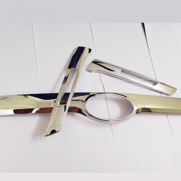 Kia Seltos License & Number Plate Chrome Garnish Trims Set Of 3