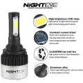 Original NightEye Automotive LED Bulb For Headlamp High Beam Low 9000LM 6500K (Cool White) - H4 (Set of 2Pcs)