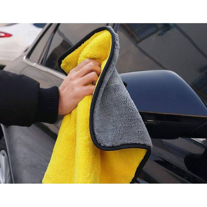 Microfiber Cloth for Car Cleaning and Detailing Dual Sided, Extra Thick Plush Microfiber Towel Lint