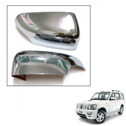 Mahindra Scorpio Old High Quality Imported Car Side Mirror Chrome Cover Set of 2