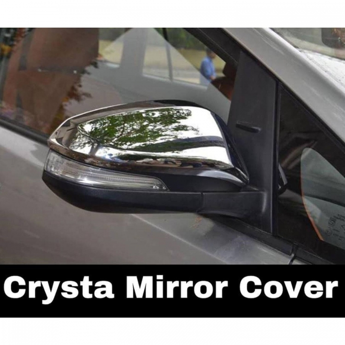 Toyota New Innova Crysta Facelift 2021 High Quality Imported Car Side Mirror Chrome Cover Set of 2