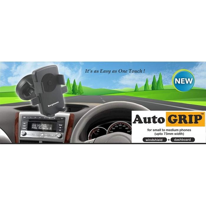 Bergmann Regular Car Mobile Holder Automatic Grip - Black
