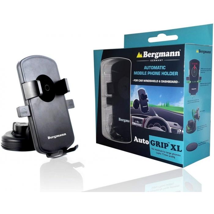 Bergmann Car Mobile Holder Automatic Grip - Black
