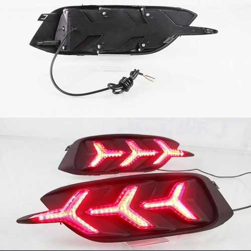 Honda New Civic 2019 Bumper LED Reflector Lights in Arrow Style (Set of 2Pcs.)