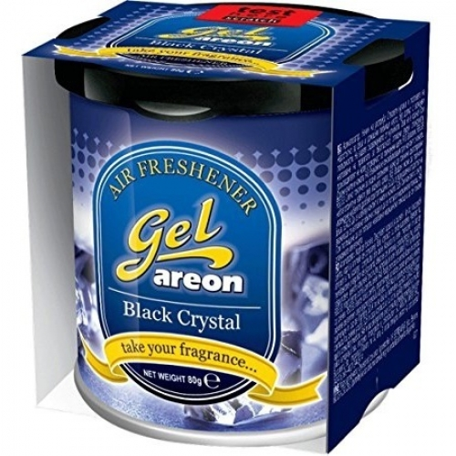 Areon Car Gel Perfume Air Freshner Black Crystal 80 Grams