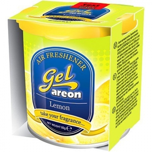 Areon Car Gel Perfume Air Freshner Lemon 80 Grams