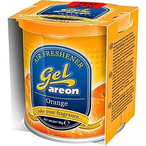 Areon Car Gel Perfume Air Freshner Orange 80 Grams